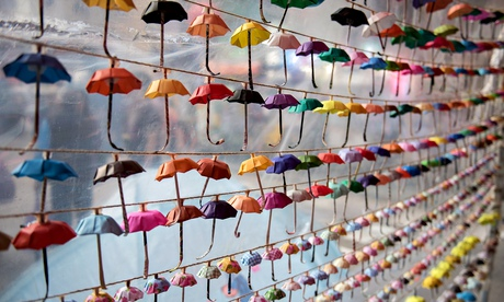 Small paper umbrellas